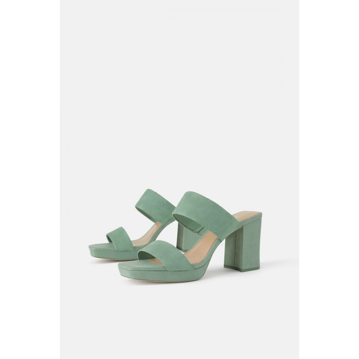 Zara Leather platform high heeled sandals