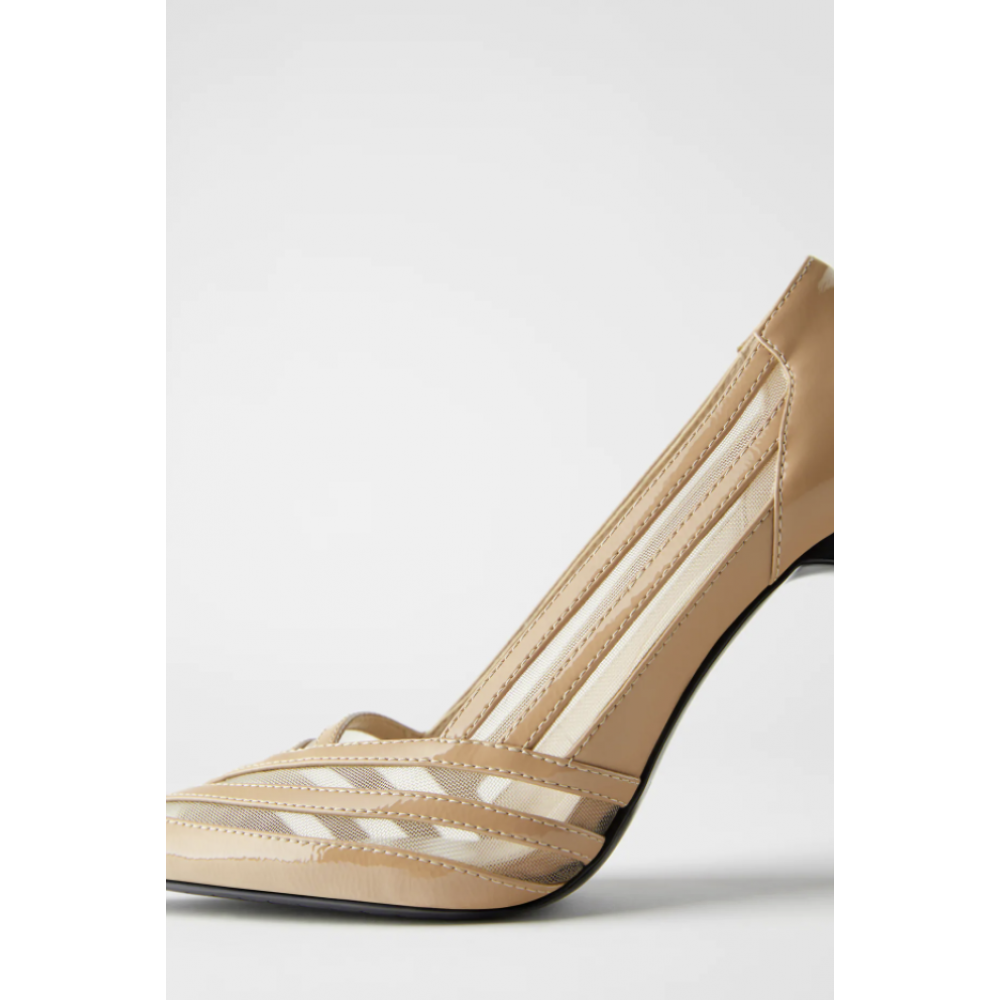 HIGH HEEL SHOES WITH MESH TRF