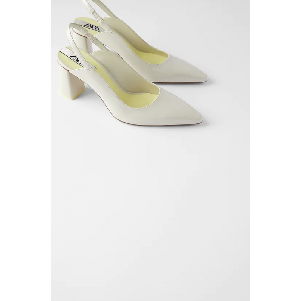 Zara Block Heel Slingback Shoes