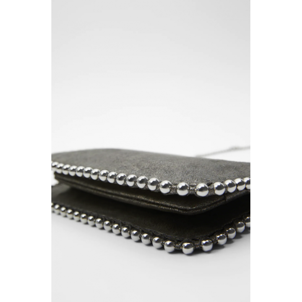 Zara Studded Black Crossbody Bag