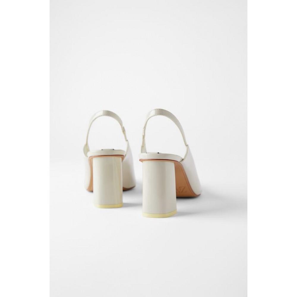Zara Block Heel Slingback Shoes