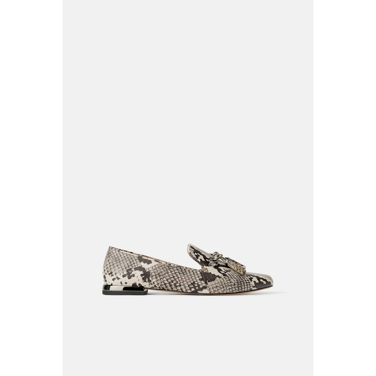 Zara Animal Print Tassel loafers