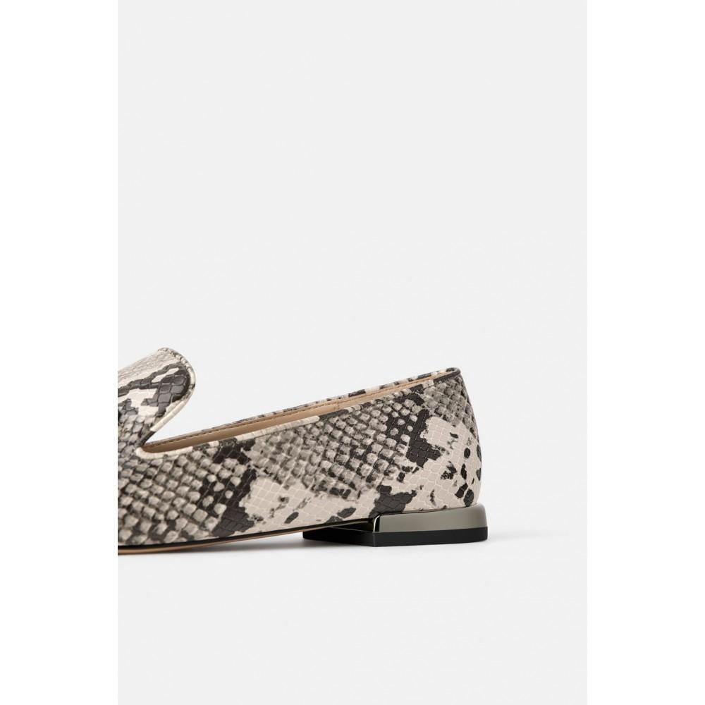 Zara Animal Print Tassel loafers
