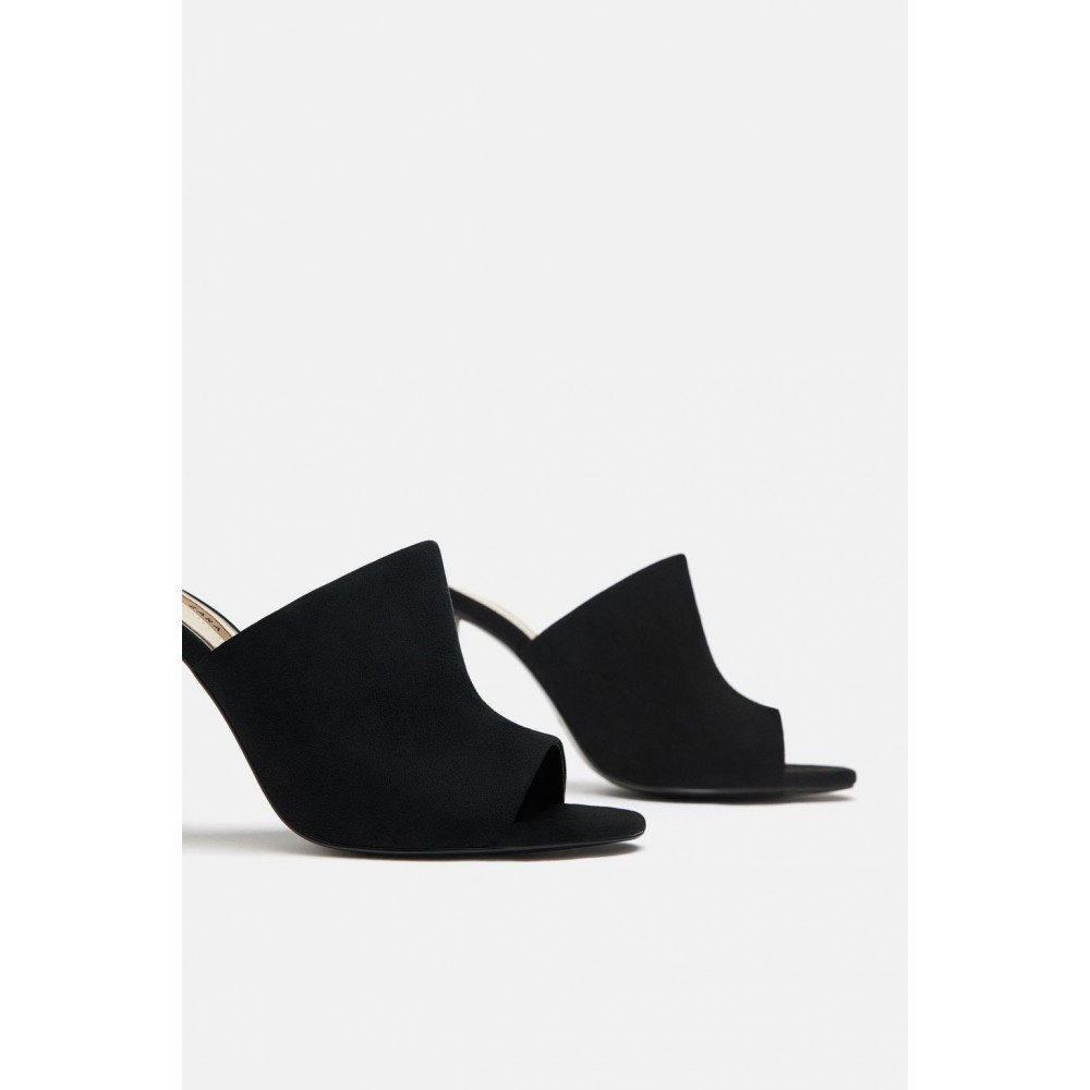 Zara High Heel Sandals With Methacrylate Heels