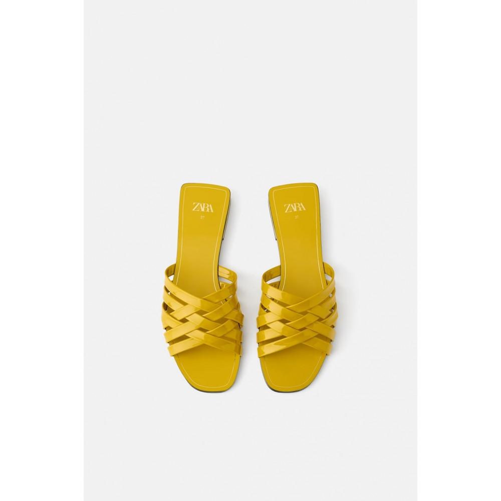 Zara Glossy Sandals (Yellow)