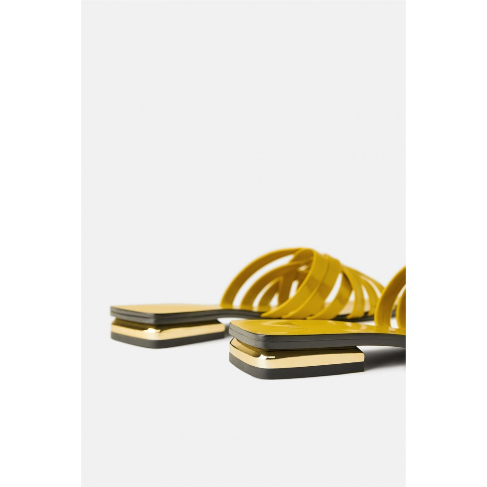 Zara Glossy sandals (Yellow)