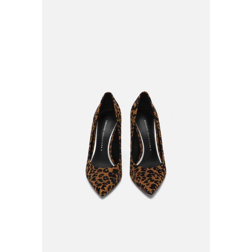 Zara Printed High Heeled Shoes (Leopard)