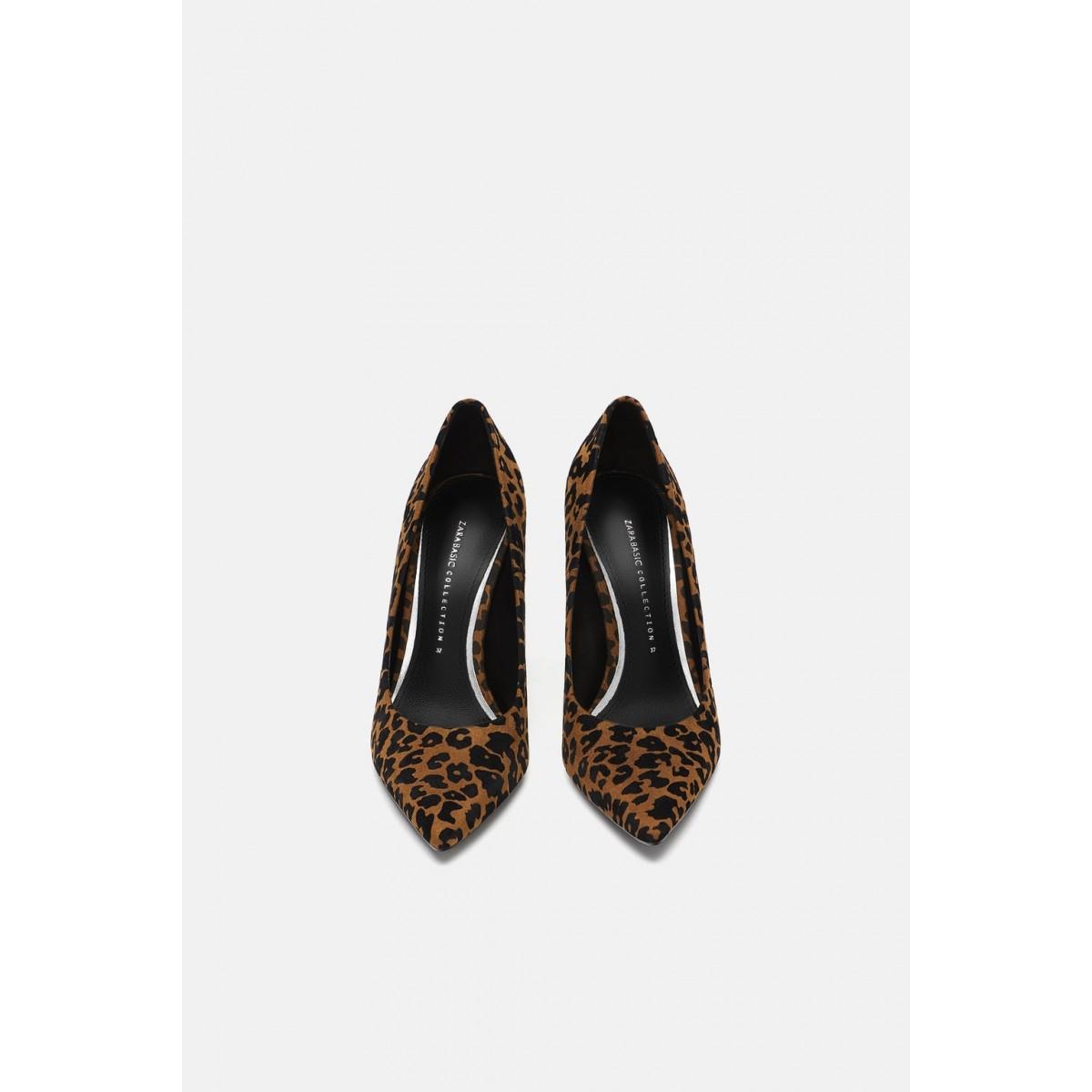 Zara Printed High Heeled Shoes (Leopard)