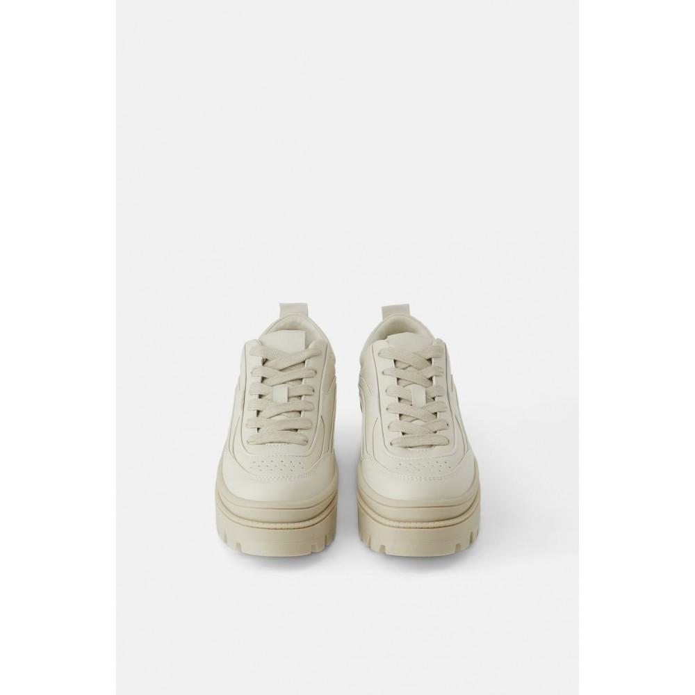 Zara Toothed Flatform Sneakers