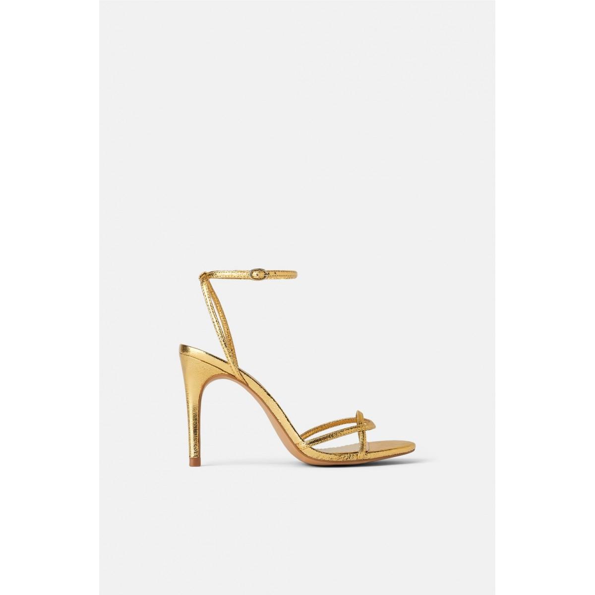 Zara Heeled Sandals With Thin Straps