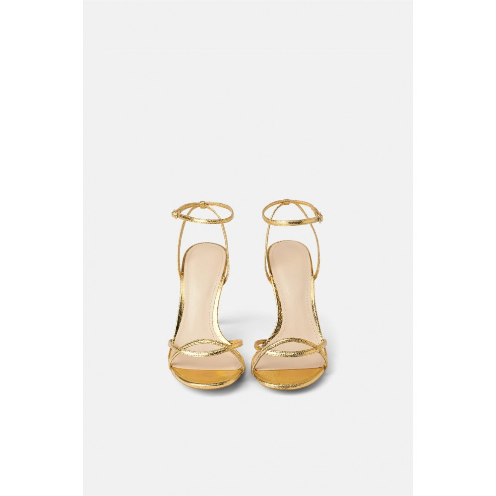 Zara Heeled Sandals With Thin Straps