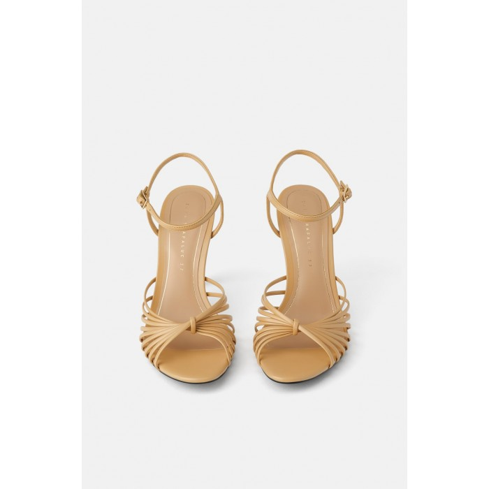 Zara High-Heel Sandals With Methacrylate Heels