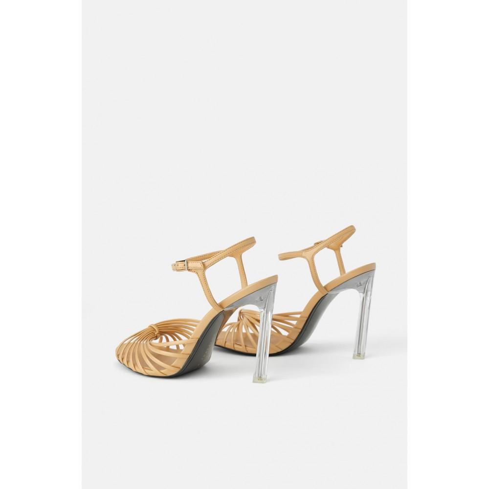 Zara High-Heel Sandals With Methacrylate Heels