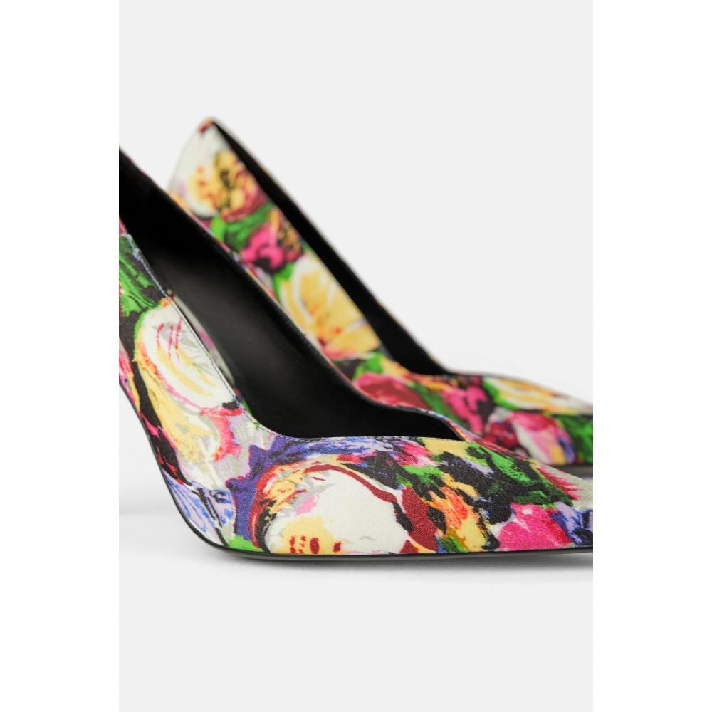 Zara Printed High Heeled Shoes