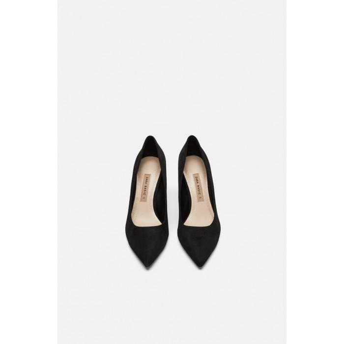 Zara High Heeled Shoes With Metallic Detail