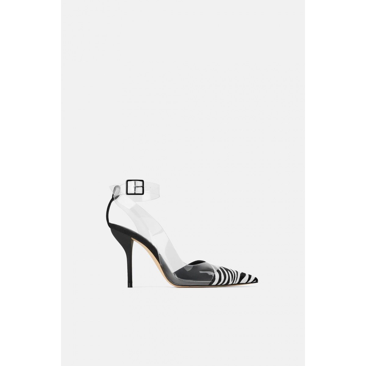 Zara Animal Print Vinyl High Heel Shoes