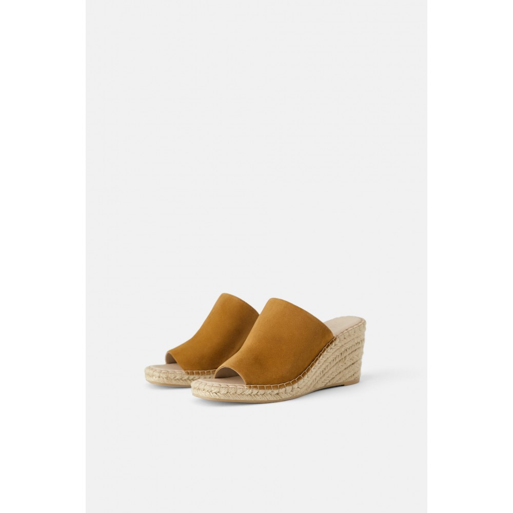 Zara Leather Wedges