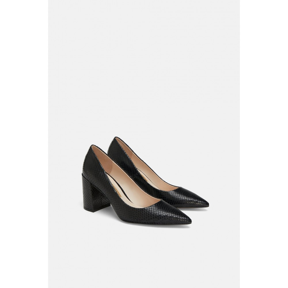 Zara Leather Heels (Black)