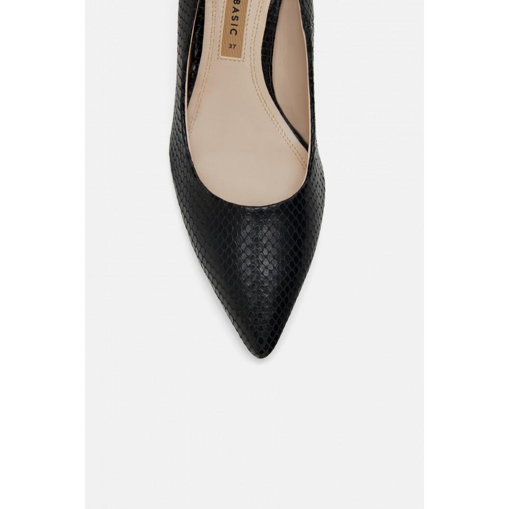 Zara Leather Heels (Black)