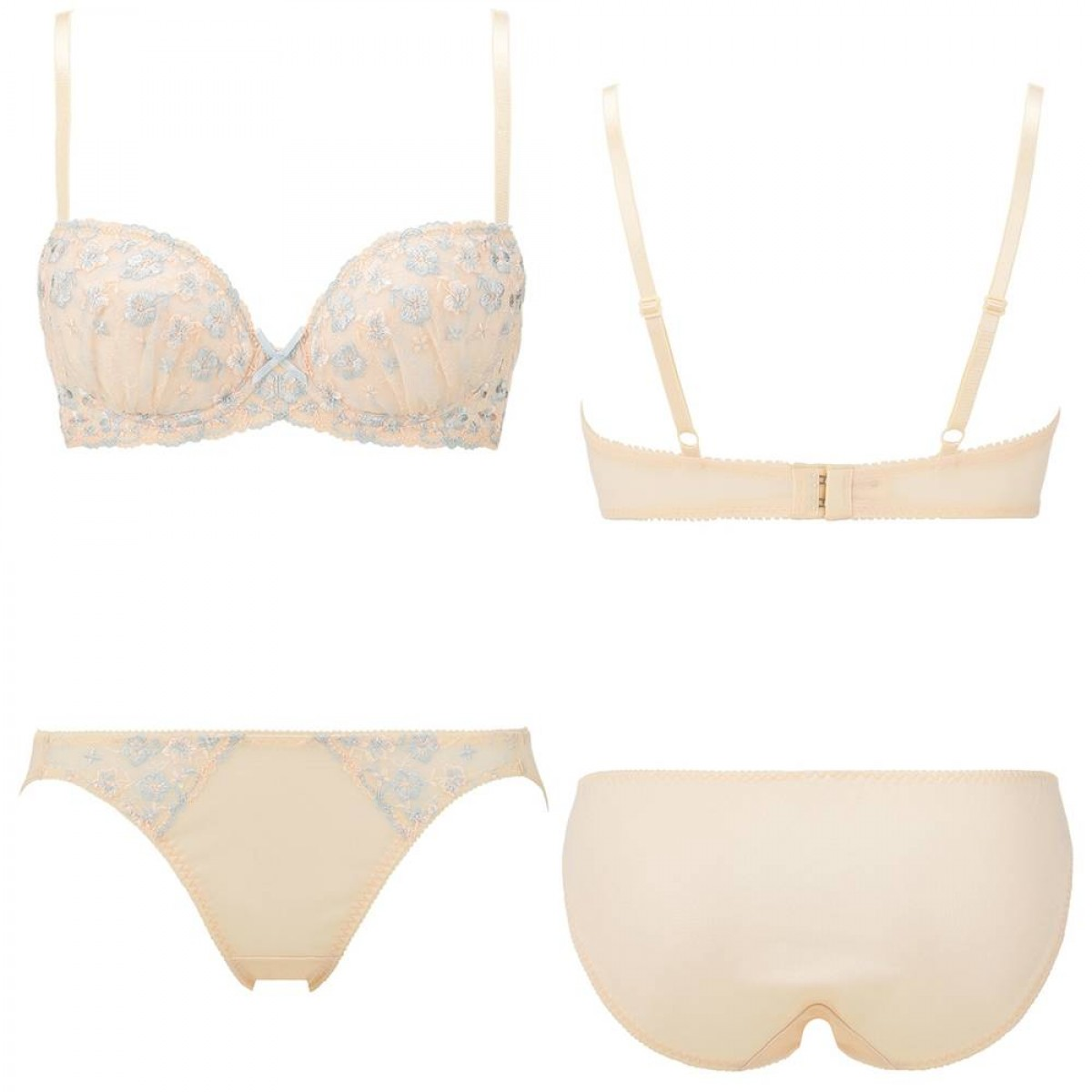 Triumph Angel Floral Bra and Panty set