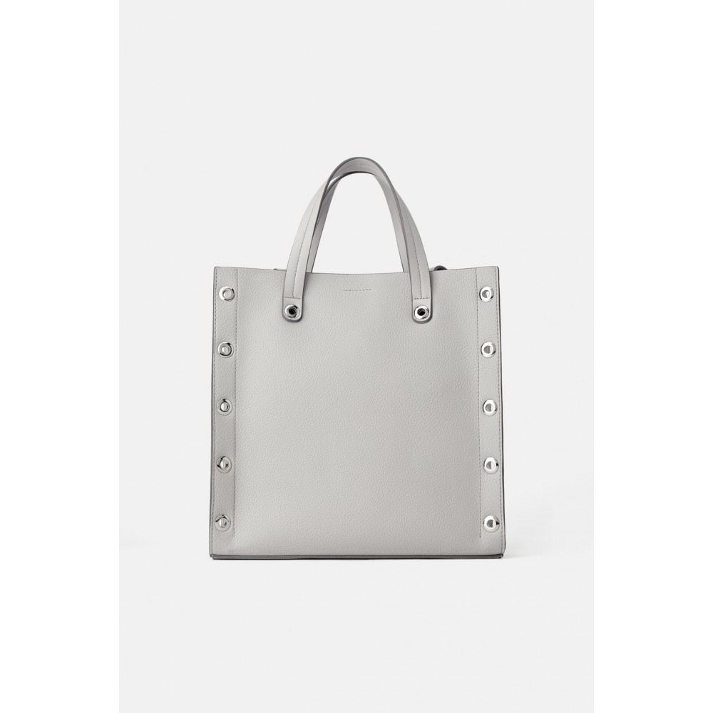 Zara Square Tote Bag With Eyelets