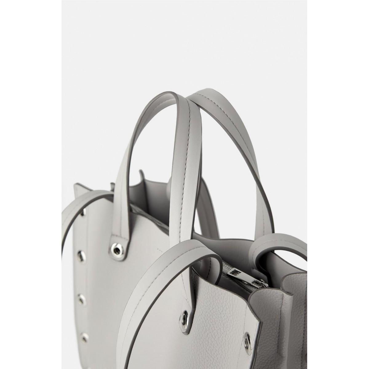 Zara Square Tote Bag with Eyelets