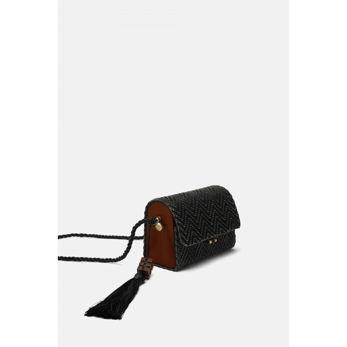 Zara Mini Raffia Crossbody Bag