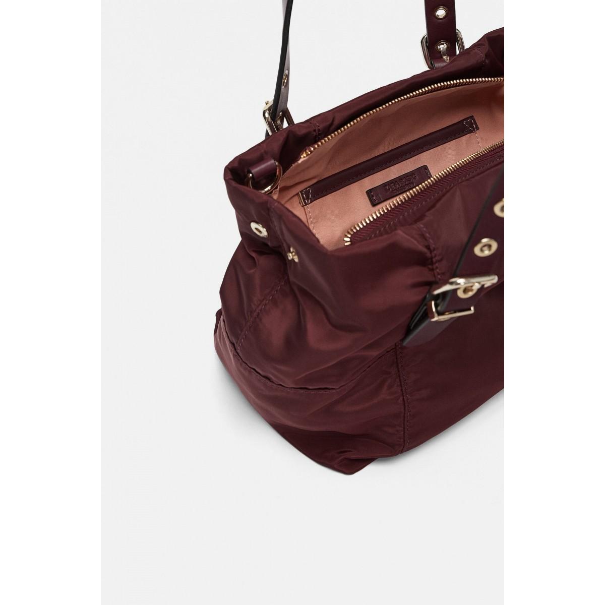 Zara Nylon Mini Tote Bag
