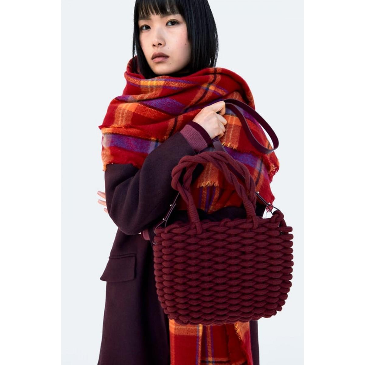 Zara Braided Rope Tote Handbag