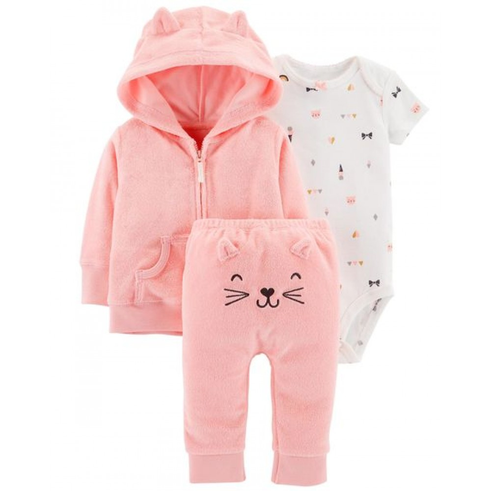 Carter's 3-Piece Terry Little Cardigan Set