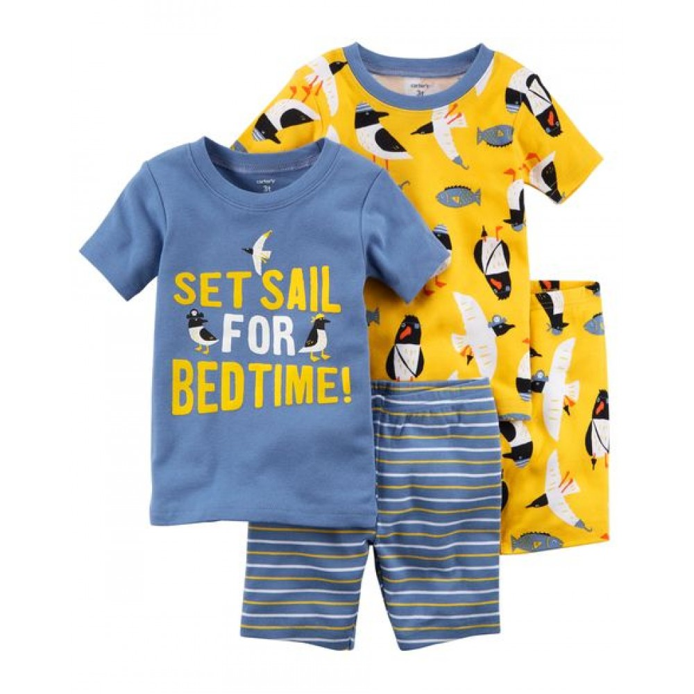 Carter's 4-Piece Penguin Snug Fit Cotton Pjs