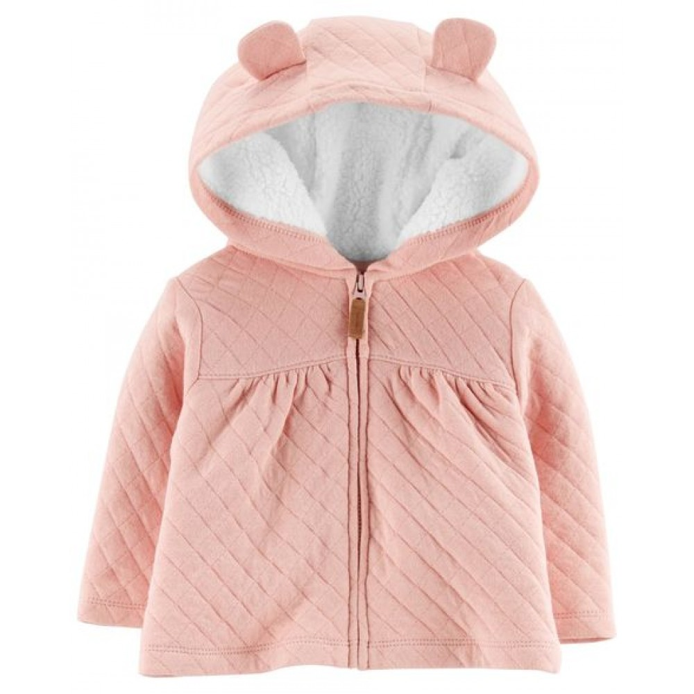 Carter's Zip-Up Quilted Heather Jacket