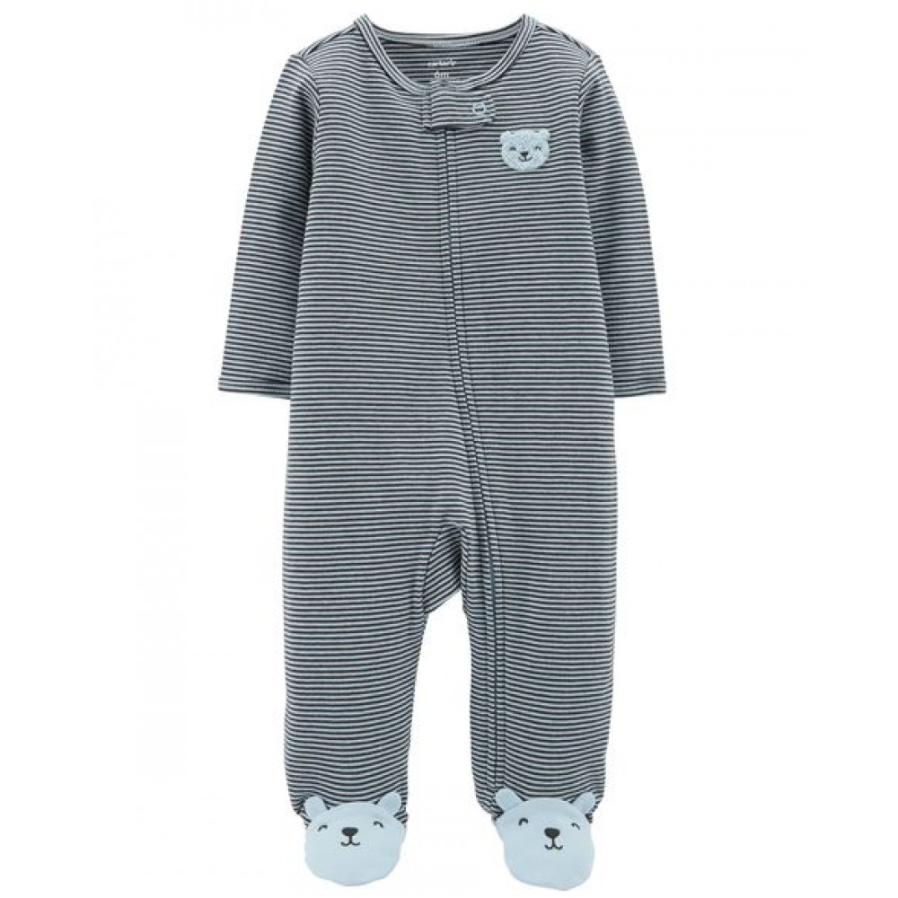Carter's Zip-Up Bear Cotton Sleep & Play
