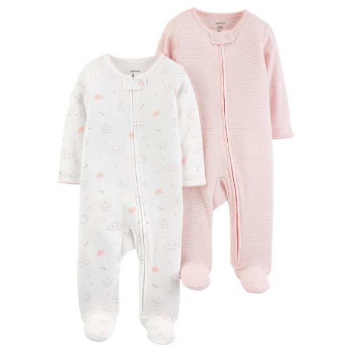 Carter's 2-Pack Zip-Up Cotton Sleep & Plays