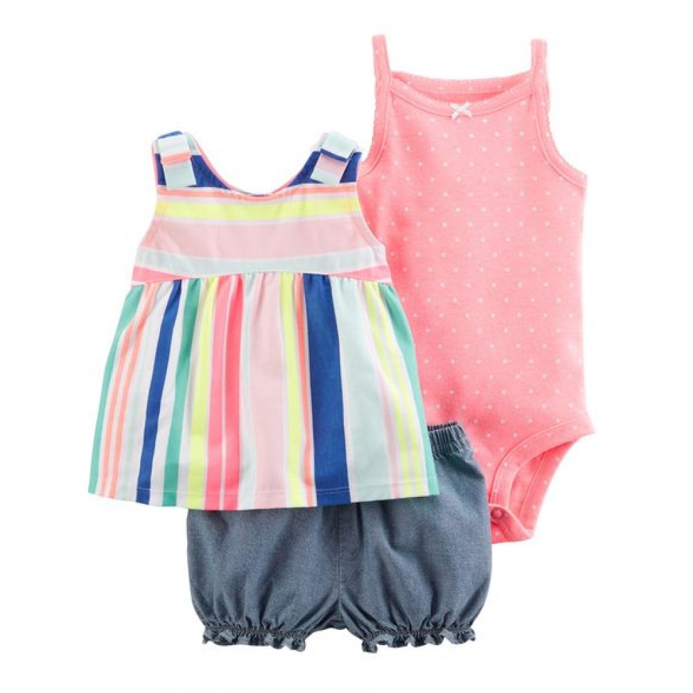 Carter's 3-Piece Bodysuit & Diaper Cover Set