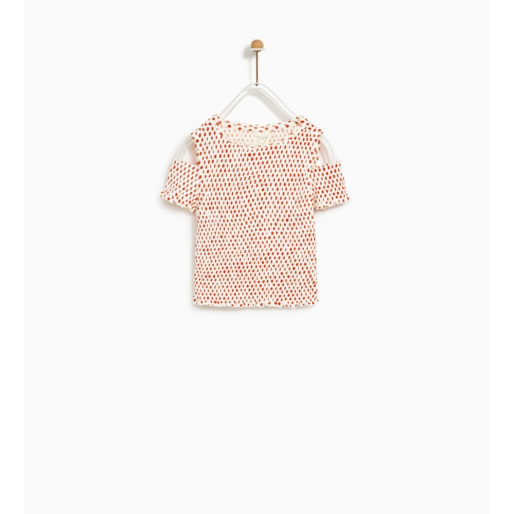 Zara Smocked Top