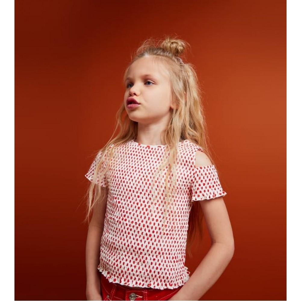 Zara Smocked Top