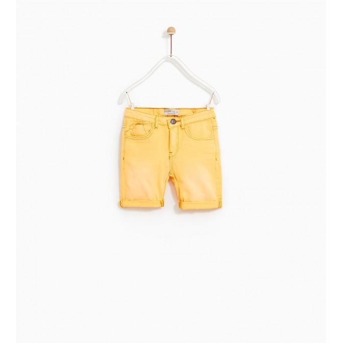 Zara Twill Denim Bermuda Shorts