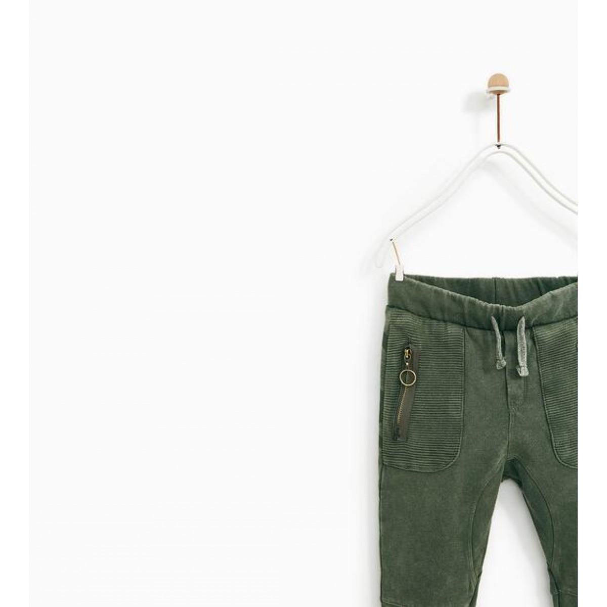 Zara Plush Jersey Skull Trousers