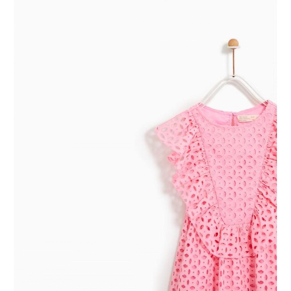 Zara Dress with Swiss Embroidery