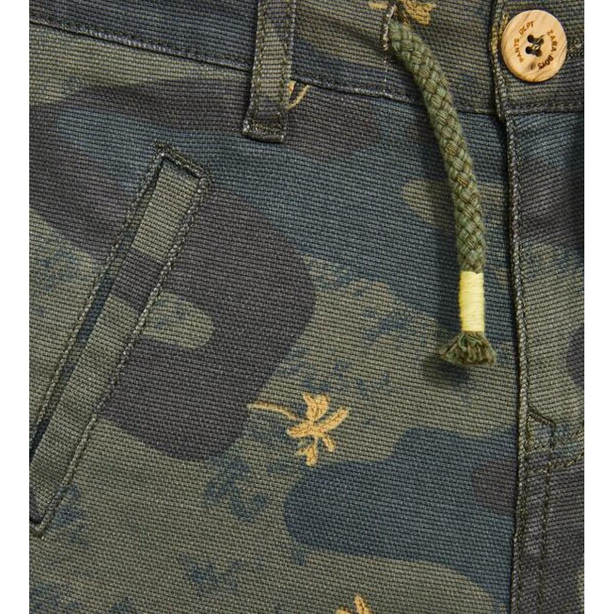 Zara Camouflage Bermuda Shorts