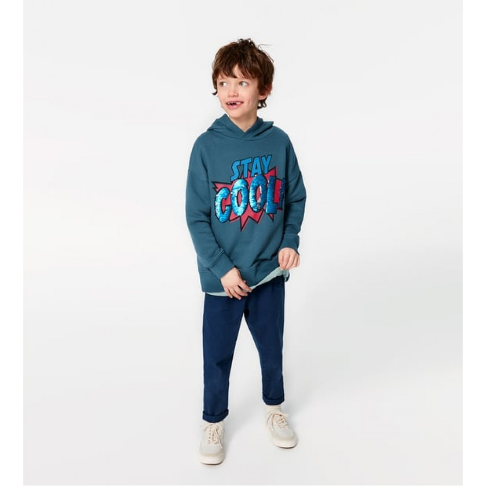 "Zara ""Stay Cool"" Sweatshirt With Reversible Sequins"