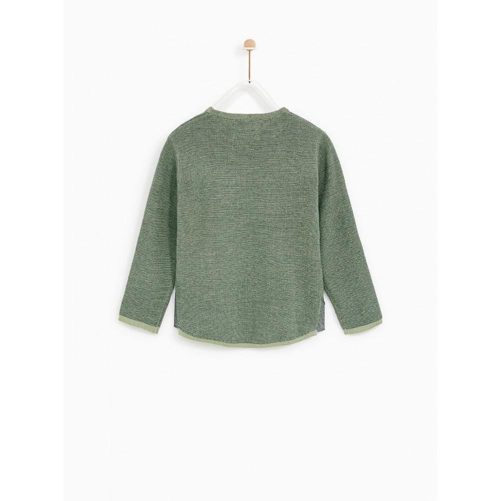 Zara Jacquard Cactus Sweater