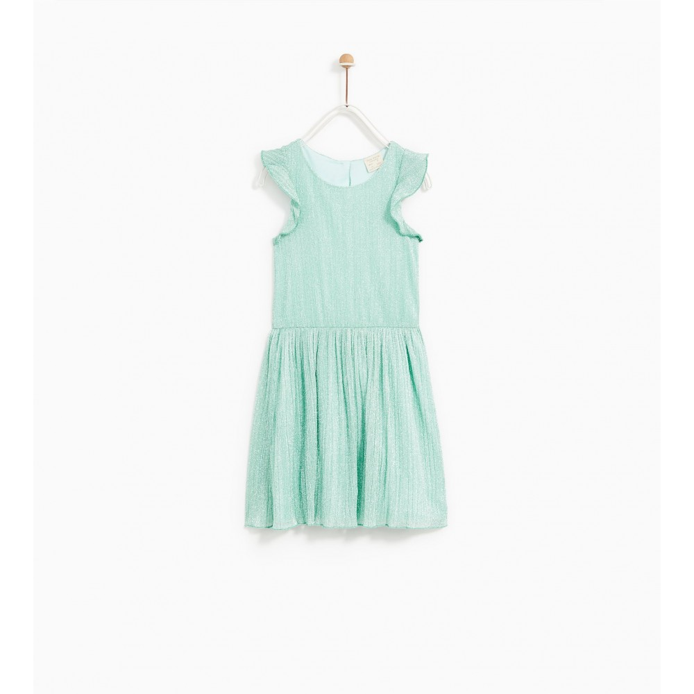 Zara Shiny Pleated Dress