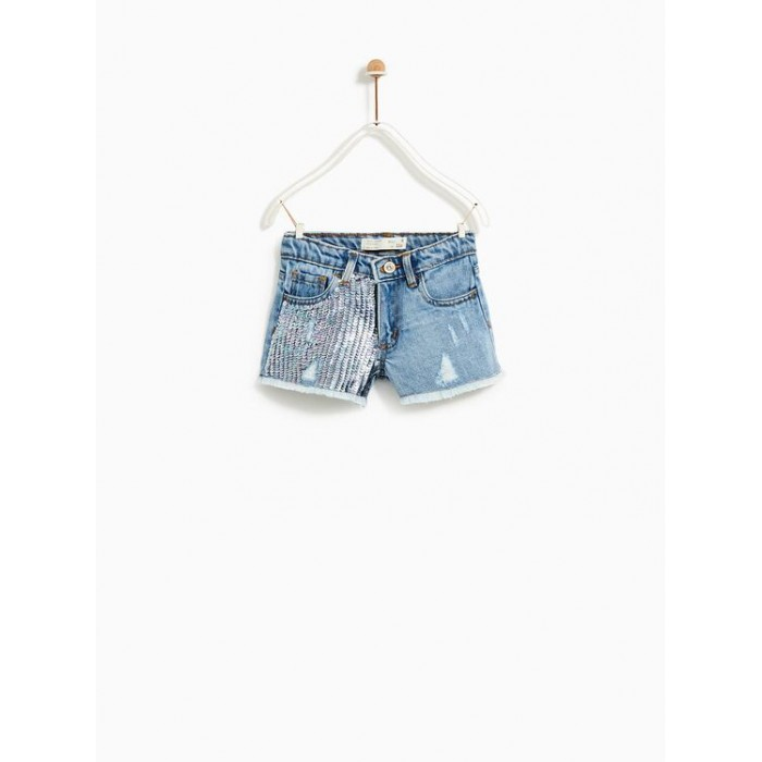 Zara Sequinned Bermuda Shorts