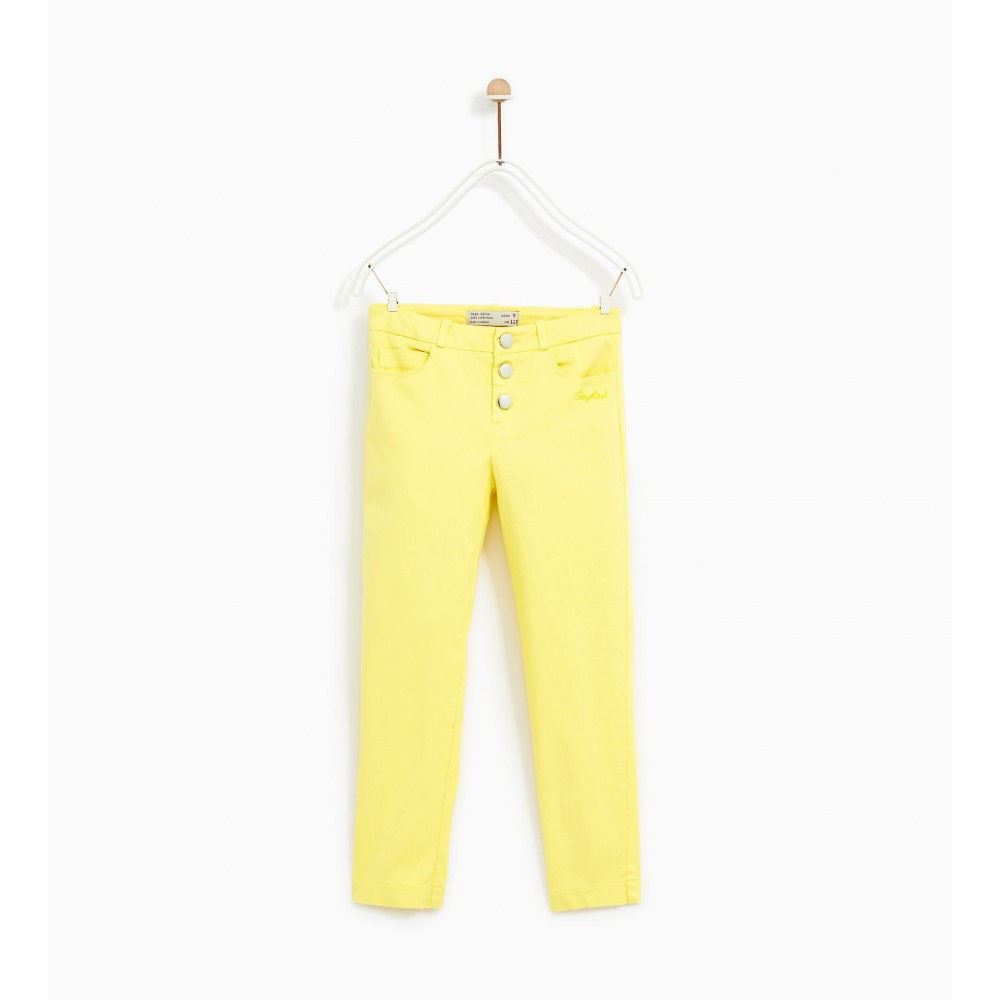Zara Satin Trousers With Buttons