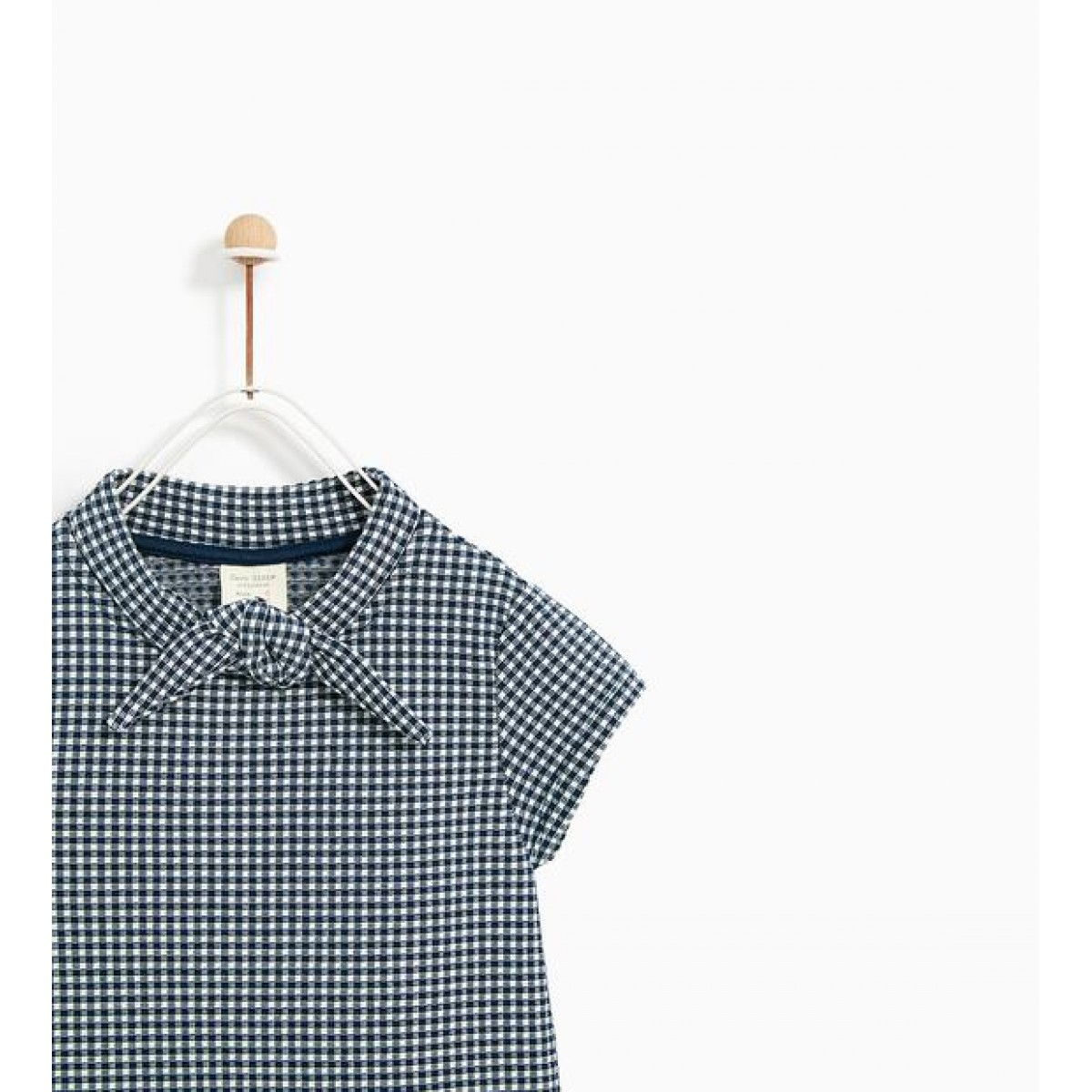 Zara Dress With A Bow At Neck