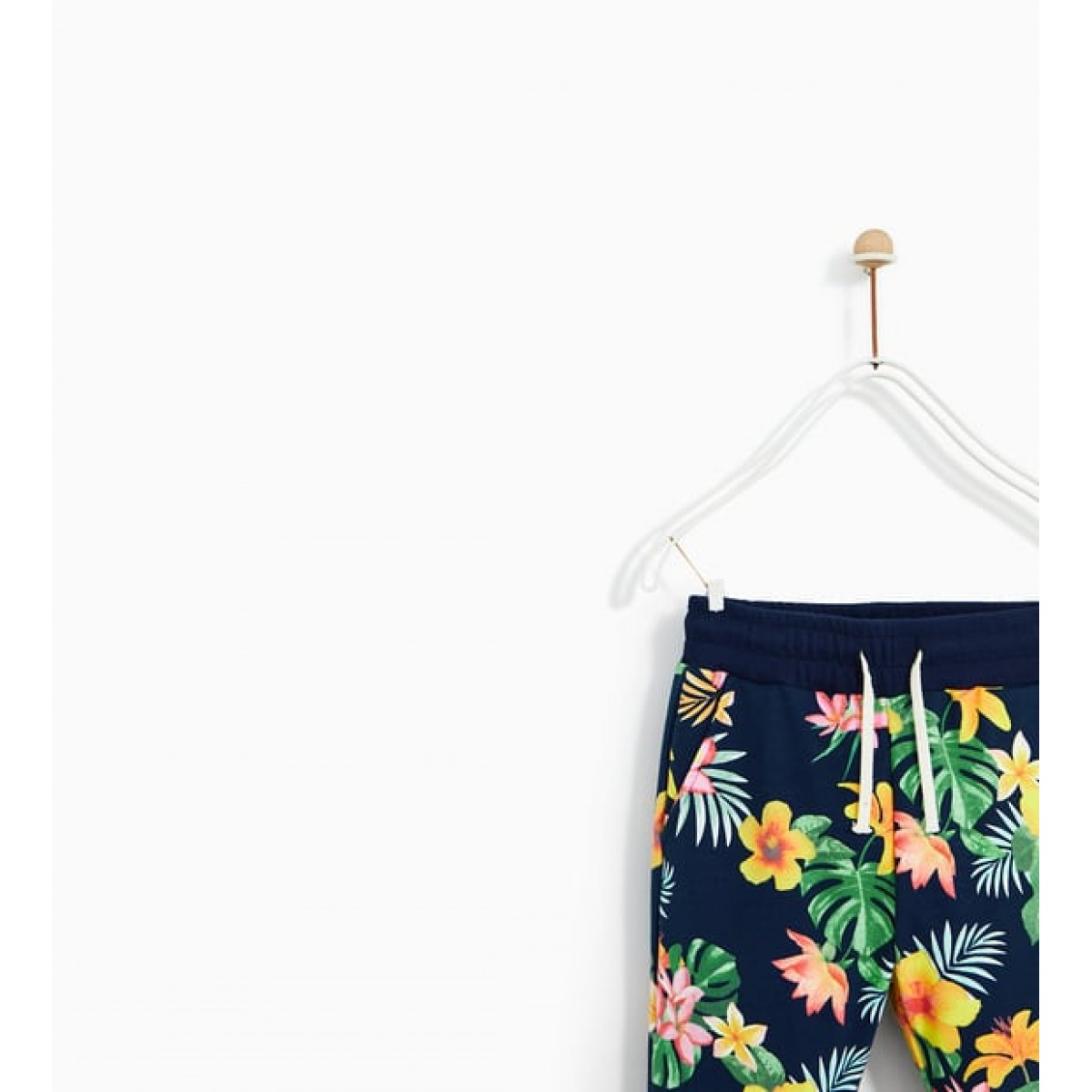 Zara Plush Jersey Tropical Trousers