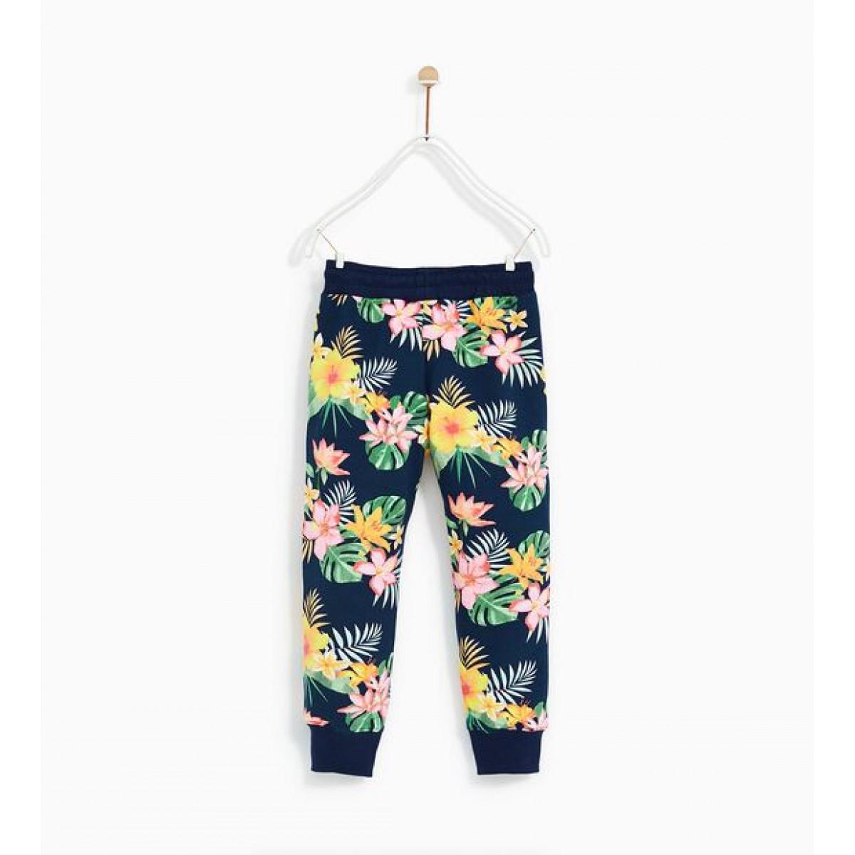 Zara Plush Jersey Tropical Trousers