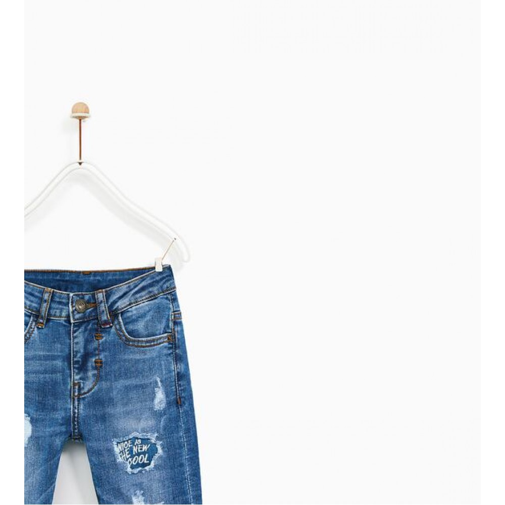 Zara Jeans with rips and patches